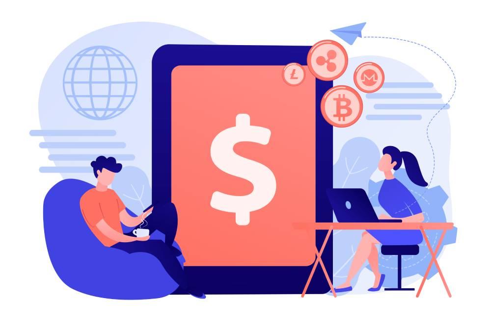 Bei der Transferierung von Kryptowährungen zwischen Wallets